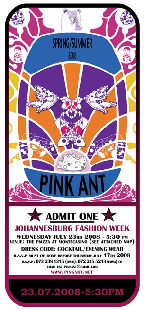 Pink Ant Fashion Week Invite